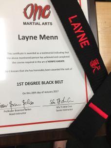 layne black belt